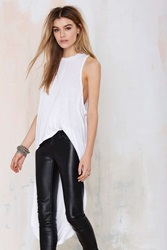 Nasty Gal Good Times Bad Times High Low Maxi Top White
