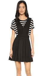 J.O.A. Pleat Dress Black