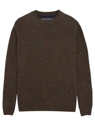 Joules Inglenook Flecked Wool Jumper Brown