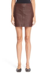 Helmut Lang Women's Stretch Leather Miniskirt
