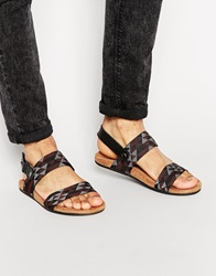 Toms Moreno Woven Sandals Grey