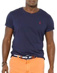 Polo Big And Tall Jersey V Neck T Shirt Ink