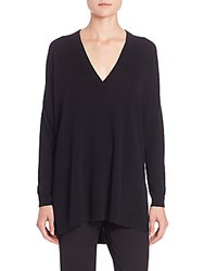 Vince Slim Fit V Neck Sweater Black