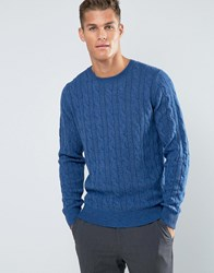 Tommy Hilfiger Jumper With Cable Knit In Blue 08878A1681