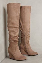 Anthropologie Jeffrey Campbell Revolution Boots Taupe