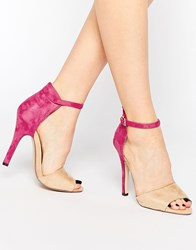 Paper Dolls Ankle Strap Heeled Sandals Creampink