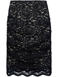 Nicole Miller Straight Lace Skirt Black