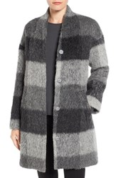 Eileen Fisher Women's Brushed Check High Collar Jacket