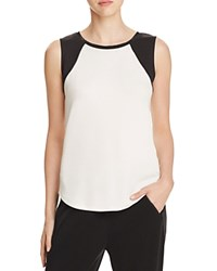 Elie Tahari Sport Mackenzie Color Block Mesh Side Tee White