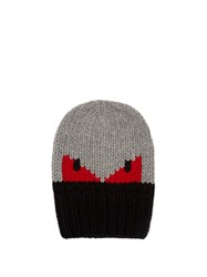 Fendi Bag Bugs Knitted Hat Grey