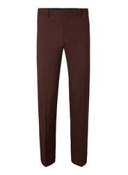Topman Rust Twill Skinny Fit Suit Trousers Brown
