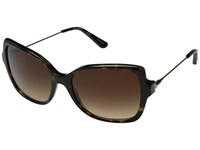 Tory Burch 0Ty7094 Dark Tortoise Gold Brown Gradient Fashion Sunglasses Black