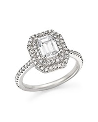 Bloomingdale's Diamond Double Halo Solitaire Ring In 14K White Gold 1.25 Ct. T.W.