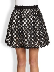 Marc Jacobs Oversized Sequin Skirt Silver Black