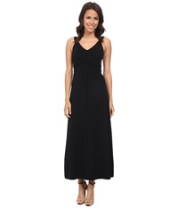 Mod O Doc Cotton Modal Jersey Braided Trim Maxi Dress Black Women's Dress