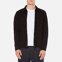 Our Legacy Men's Suede Zip Shirt Black