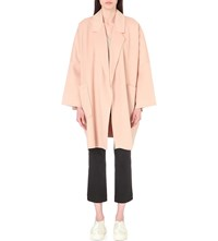 Helmut Lang Oversized Wool And Cashmere Blend Coat Dusty Pink