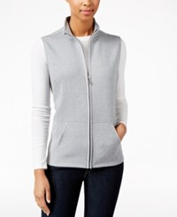 Karen Scott Petite Quilted Vest Only At Macy's Smoke Grey Heather