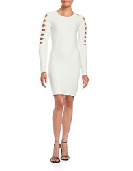 Bailey 44 Ribbed Cutout Sweater Dress Cream