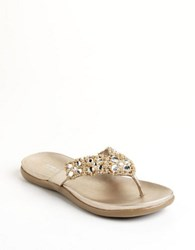 Kenneth Cole Reaction Glam Athon Thong Sandals Beige