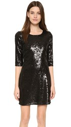 Cupcakes And Cashmere Coloumbus Sequin Dress Black