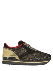 Hogan 50Mm H222 Glitter And Leather Sneakers
