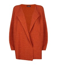 Eskandar Sequined Cashmere Silk Cardigan Female Orange