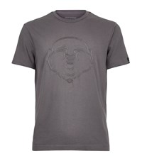 True Religion Embroidered Buddha T Shirt Male Grey