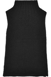 Madewell Veranda Ribbed Cotton Blend Turtleneck Top Black