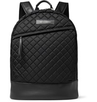 Want Les Essentiels Kastrup Leather Trimmed Quilted Shell Backpack Black