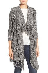 Women's Dex Long Waterfall Cardigan With Fringe