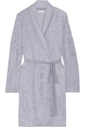 Skin Cotton Blend Terry Robe Gray