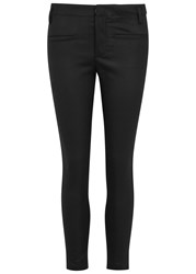 Haider Ackermann Coco Cropped Wool And Leather Trousers Black