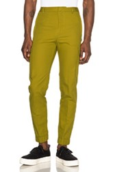 Kenzo Cotton And Linen Cargo Pants In Green