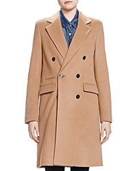The Kooples Double Breasted Wool Coat Camel