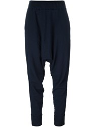 Rundholz Drop Crotch Long Trousers Blue