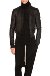 Rick Owens Glitter Trench In Black