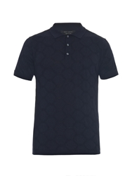 Marc Jacobs Honeycomb Intarsia Fine Knit Polo Shirt