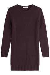 Valentino Cashmere Sweater Dress Purple