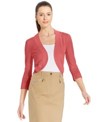 Jessica Howard Three Quarter Sleeve Open Front Cardigan Petunia