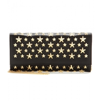 Jimmy Choo Milla Star Studded Leather Wallet Black Yellow Gold