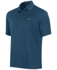 Greg Norman For Tasso Elba Men's 5 Iron Performance Golf Polo Blue Socket