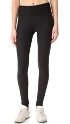 Plush Fleece Lined Yoga Leggings Black