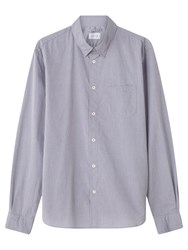 Jigsaw Textured Garment Dye Cotton Slim Shirt Lake