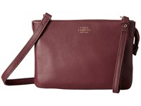 Vince Camuto Cami Crossbody Black Cherry Cross Body Handbags Burgundy