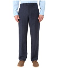 Perry Ellis Classic Fit Linen Portfolio Pant Navy Men's Dress Pants