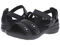 Revere Vienna Black Nappa Women's Flat Shoes