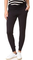 Beyond Yoga Fold Over Maternity Sweatpants Black