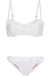 Michael Kors Broderie Anglaise Underwired Bikini White