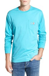Men's Southern Tide 'Nautical Flags' Long Sleeve Graphic T Shirt Scuba Blue
